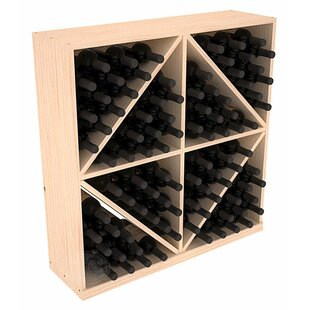 Karnes Pine Diamond Storage 96 Bottle Floor Wine Rack