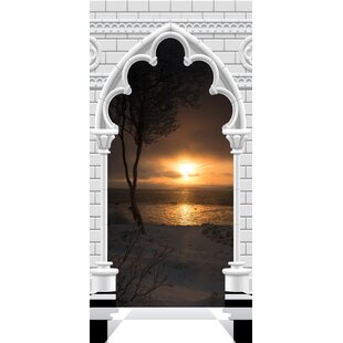Gothic Arch and Sunset I Door Wall Mural by East Urban Home