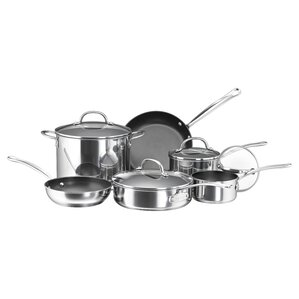 Millennium Polished Stainless Steel 10 Piece Cookware Set