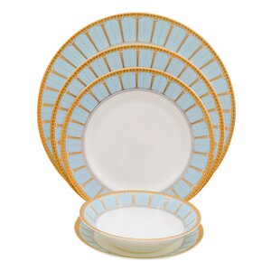 Discovery Bone China 20 Piece Dinnerware Set, Service for 4
