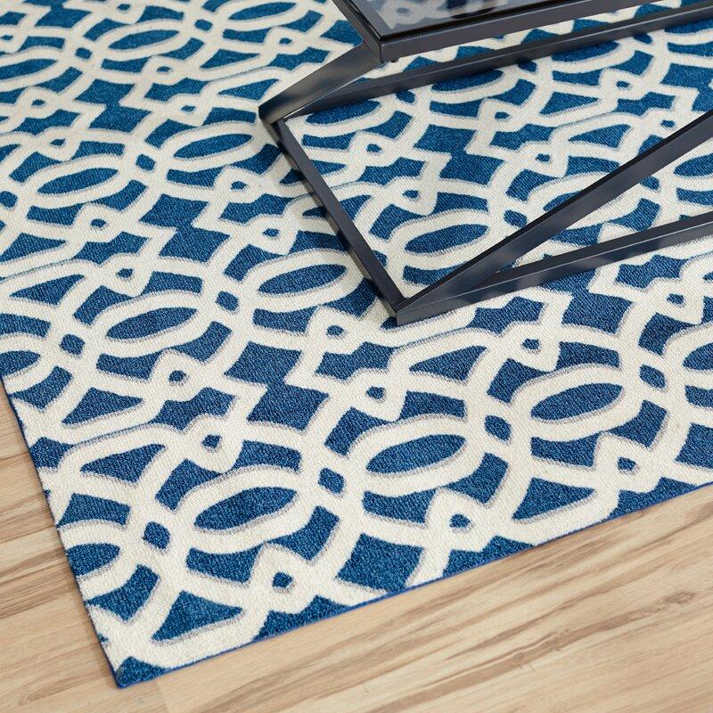 mercury row tabris navy white area rug reviews. Black Bedroom Furniture Sets. Home Design Ideas