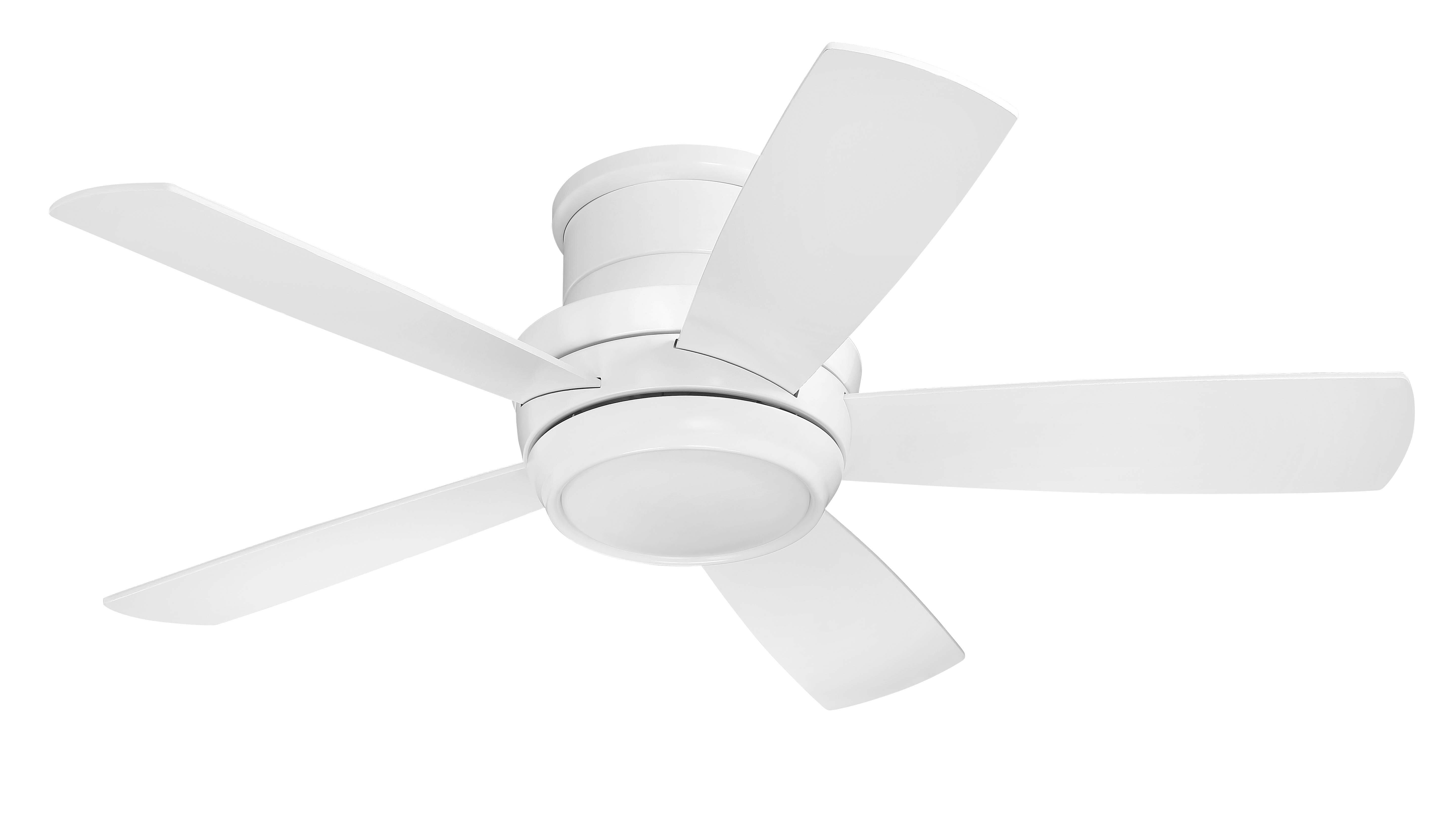 white ceiling fan with remote. Latitude Run Contemporary 44\ White Ceiling Fan With Remote N