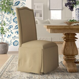 Alison Skirted Upholstered Parson Chair (Set of 2)