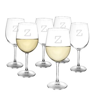 Metz Personalized 12 Oz. White Wine Glass (Set of 6)