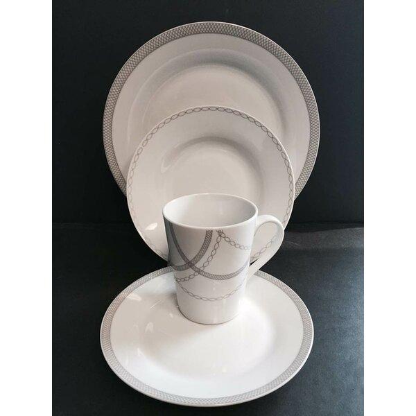 Winston Porter Payer Round Rim 16 Piece Dinnerware Set