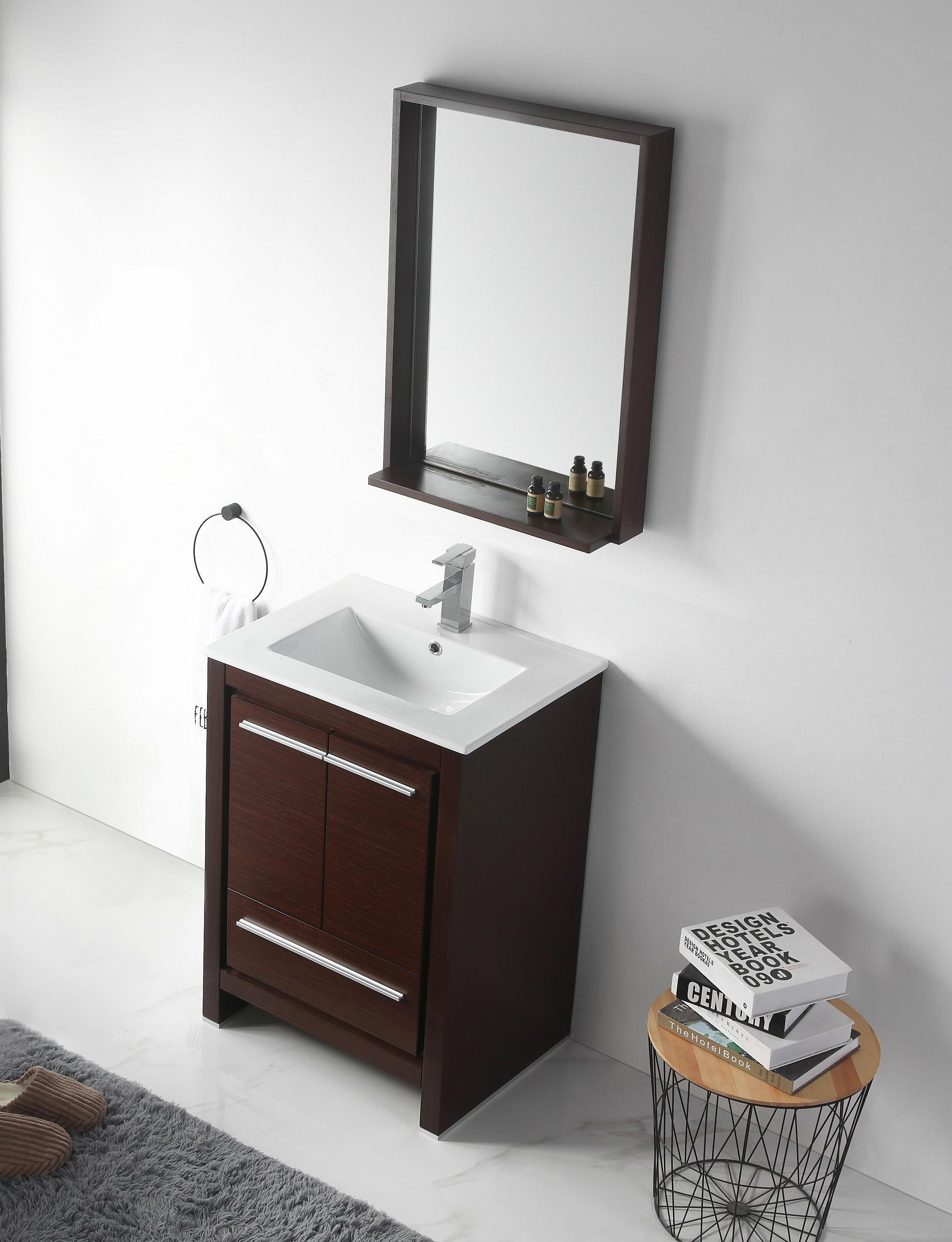 Tremendous Burslem 24 Single Bathroom Vanity Set With Mirror Download Free Architecture Designs Ferenbritishbridgeorg
