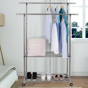 Double Rods Rolling Garment Rack