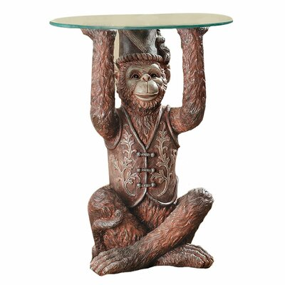 Charmant Moroccan Monkey Business Sculptural End Table