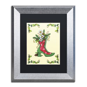 'Christmas Boot' by Jennifer Nilsson Framed Graphic Art