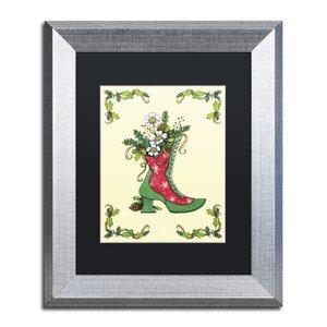 'Christmas Boot' by Jennifer Nilsson Framed Graphic Art