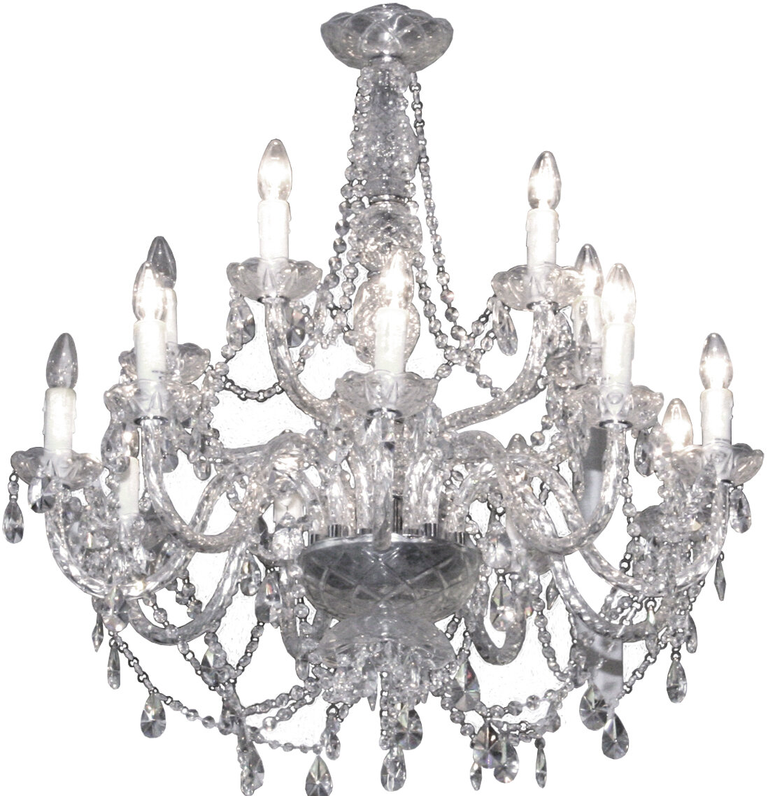14-Light Candle-Style Chandelier