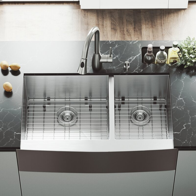 Farm House Kitchen Sink Vigo all in one 36 x 22 double basin farmhouse kitchen sink with all in one 36 x 22 double basin farmhouse kitchen sink with faucet and workwithnaturefo