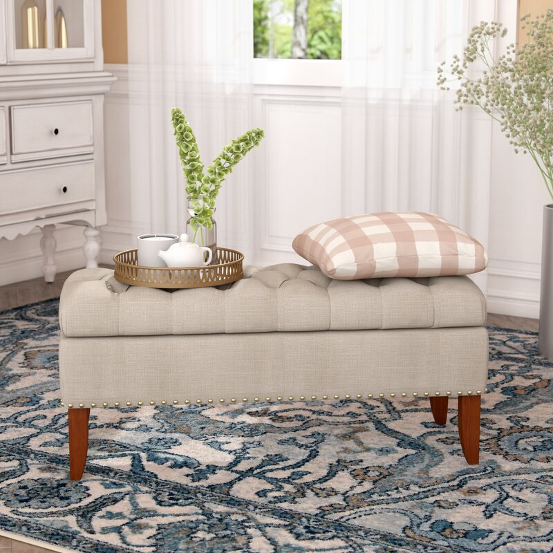 Charlton Home Sealy Upholstered Storage Bench & Reviews | Wayfair