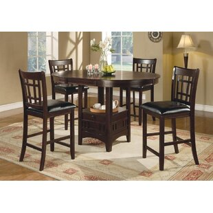 Grube 5 Piece Counter Height Extendable Dining Set