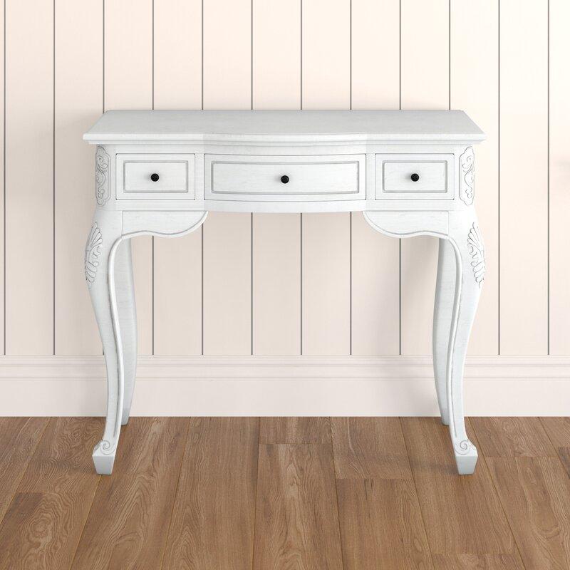 Soliz Hand Carved Wood Antique Vanity Desk - Lark Manor Soliz Hand Carved Wood Antique Vanity Desk & Reviews