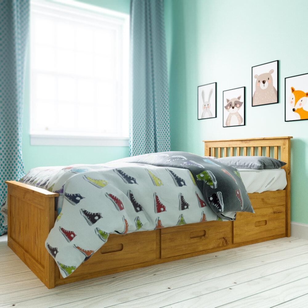 Just Kids Single Cabin Bed Frame With Storage U0026 Reviews | Wayfair.co.uk