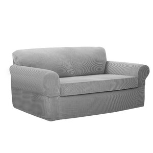 Connor Stretch Box Cushion Loveseat Slipcover