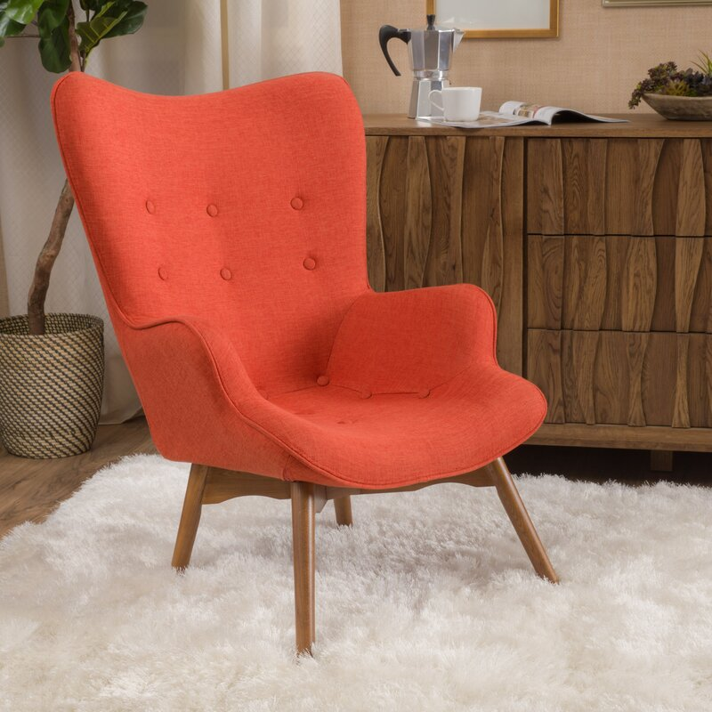 Canyon Vista Mid Century Accent Chair Set By Langley Street: Langley Street Canyon Vista Mid-Century Wingback Chair
