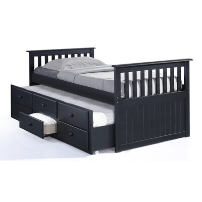 Broyhill® Marco Island Captain's Bed with Trundle Bed and Drawers Color: Black, Size: Twin
