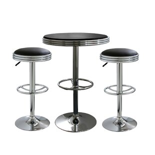 Kishore 3 Piece Adjustable Pub Table Set