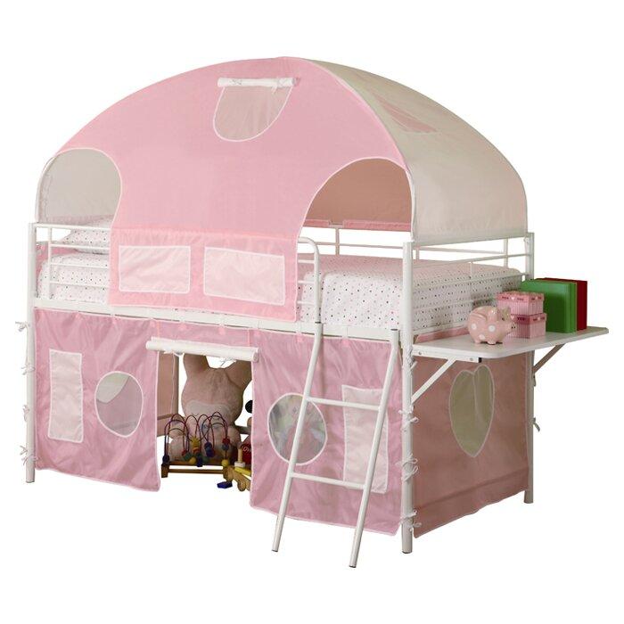 Victoria Twin Low Loft Bed  sc 1 st  Wayfair & Zoomie Kids Victoria Twin Low Loft Bed u0026 Reviews | Wayfair