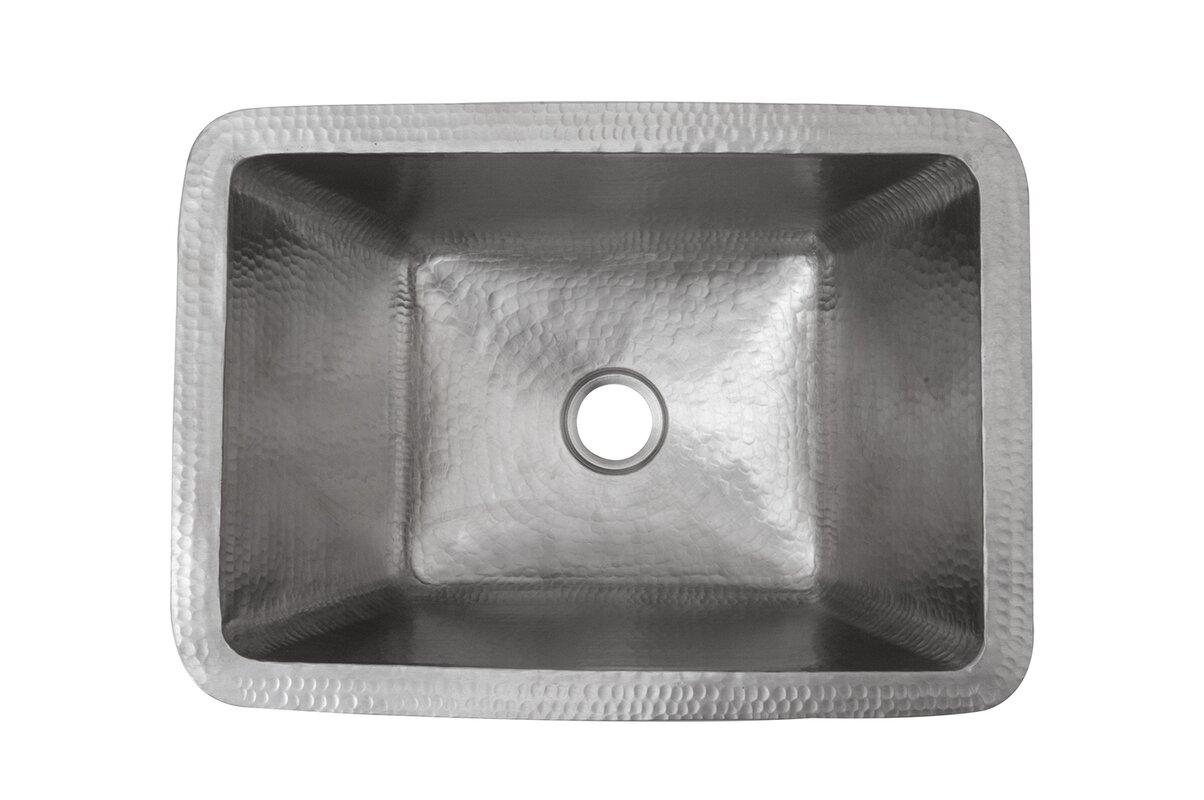 Premier Copper Products Metal Rectangular Undermount Bathroom Sink Reviews Wayfair