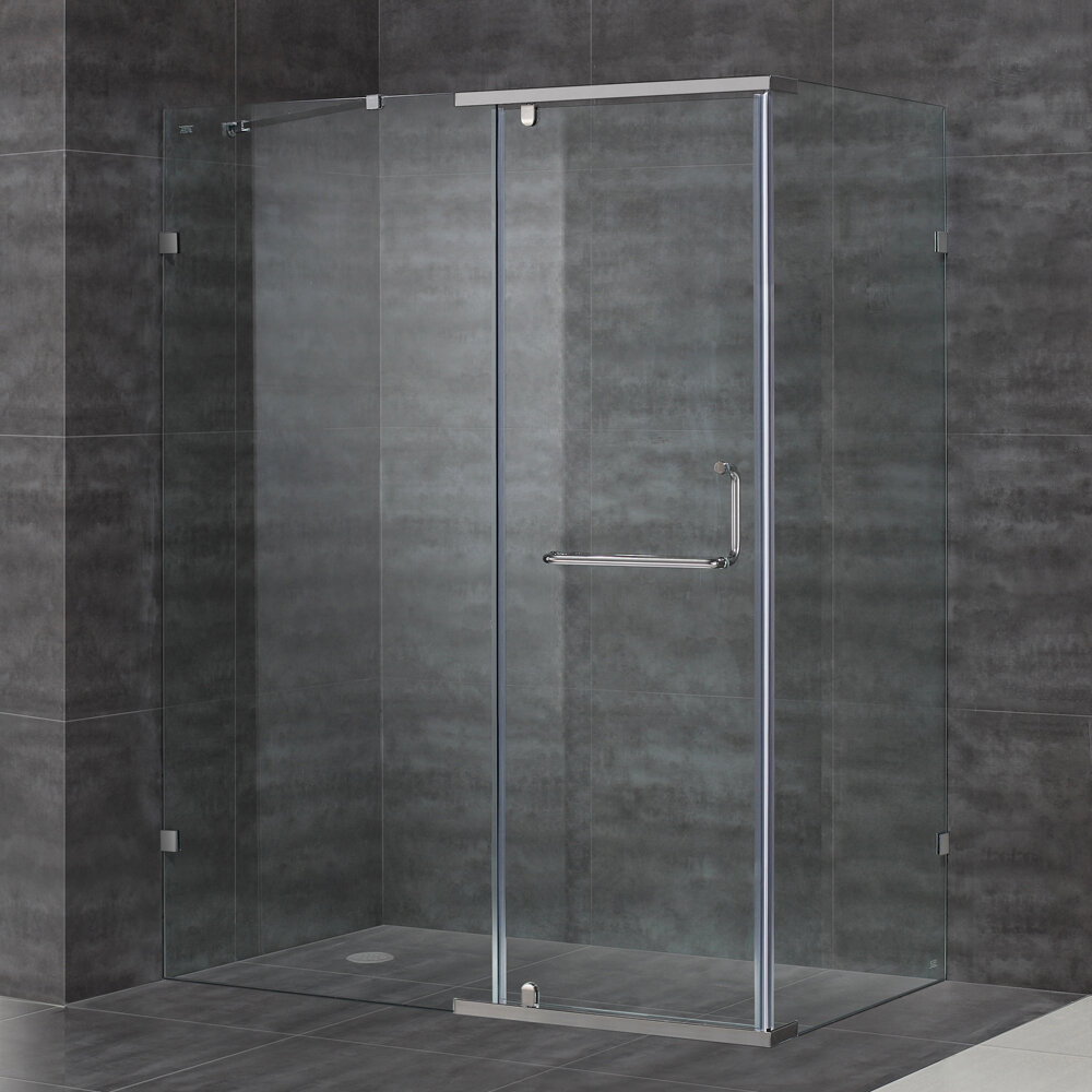 Aston 60 X 75 Pivot Semi Frameless Shower Door Wayfair