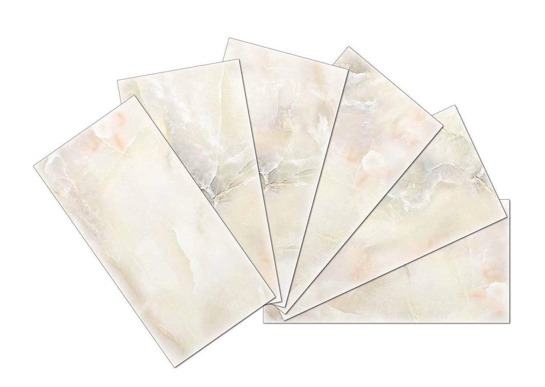 Skinnytile Crystal Skin 3 X 6 Glass Subway Tile In Off White Wayfair