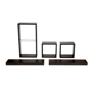 5 Piece Shelf and Cube Set