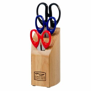 4 Piece Scissors Knife Block Set