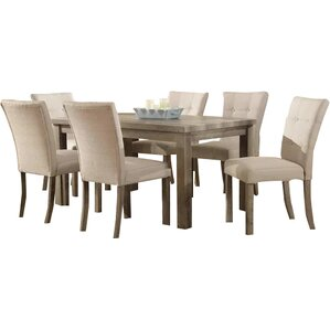wood dining room sets. Handley 7 Piece Dining Set Kitchen  Sets Joss Main