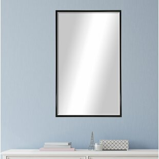 Rectangle Black Metal Wall Mirror