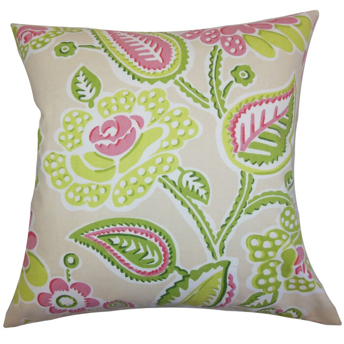 Standard//20 x 26 The Pillow Collection Neith Geometric Bedding Sham Coral