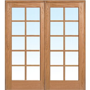 Oak french doors wayfair wood 2 panel natural interior french door planetlyrics Choice Image
