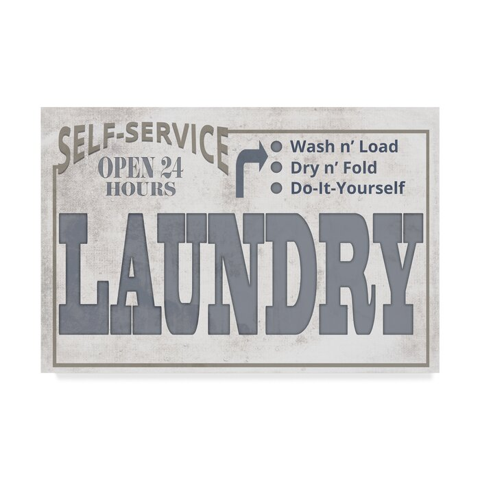 Mudroom Self Serve Laundry Textual Art On Wrapped Canvas Reviews