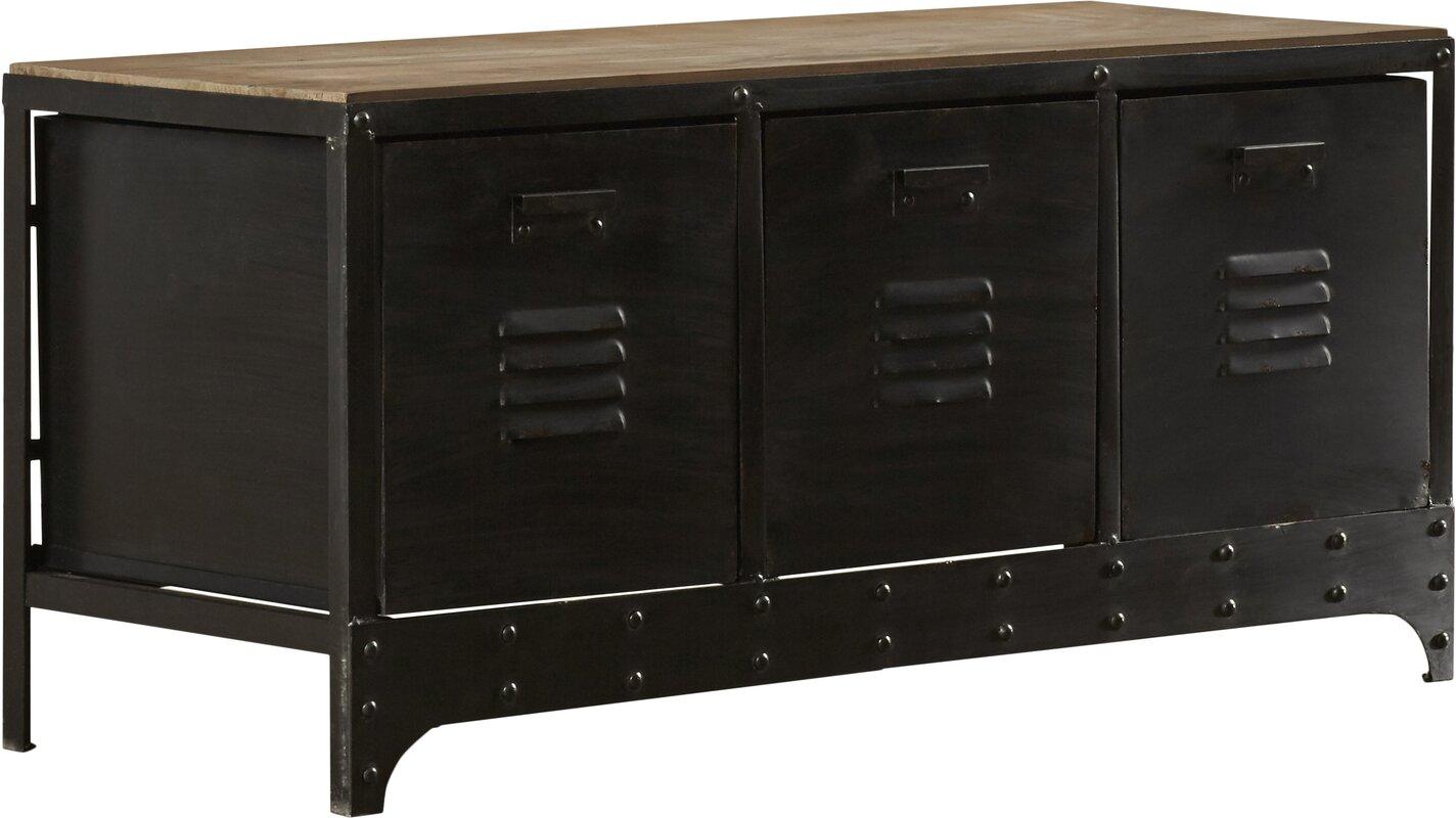 Wood And Metal Storage Bench Amp Reviews Birch Lane