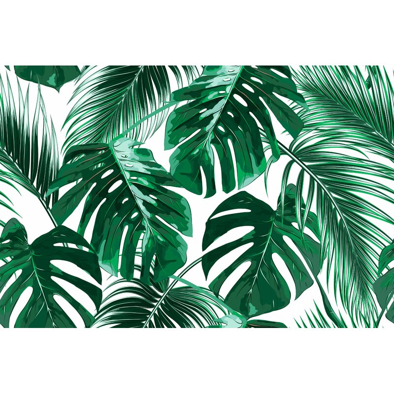 bay isle home banneker removable tropical palm leaves 5 25 l x 100