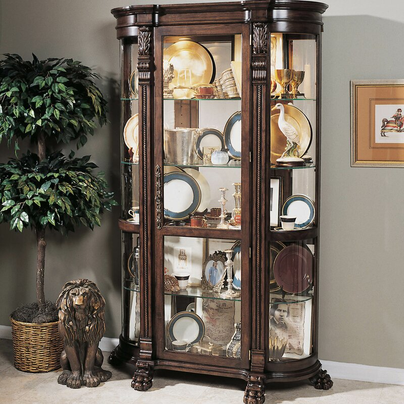 Darby Home Co Murillo Lighted Curio Cabinet & Reviews | Wayfair
