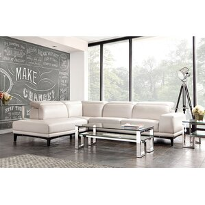 Pearl Leather Reclining�Sectional by Diamond Sofa