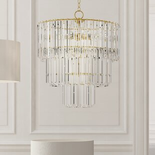 Crystal bedroom chandelier wayfair grisella 9 light crystal chandelier aloadofball Gallery