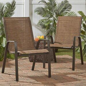 avlona stackable steel outdoor lounge chair set of 4