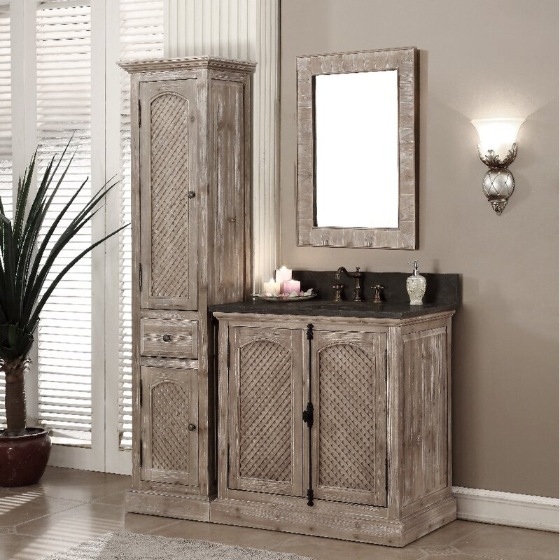 Clemmie 37 Single Bathroom Vanity Set With Linen Tower