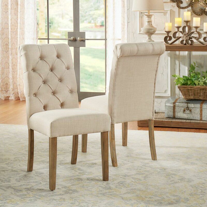 Lark Manor Pompon Tufted Side Chair Amp Reviews Wayfair