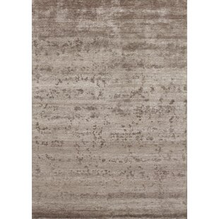 Silky Brown Area Rug by Angelo