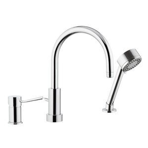 Remer by Nameek's Single Handle Deck Mounted Kitchen Sink Faucet with Spray Jet