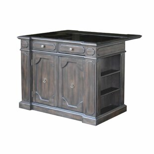 Hacienda Kitchen Island with Granite Top