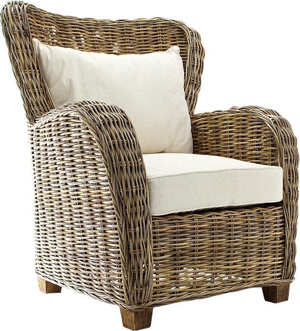 Rattan & Wicker Accent Chairs You\'ll Love | Wayfair
