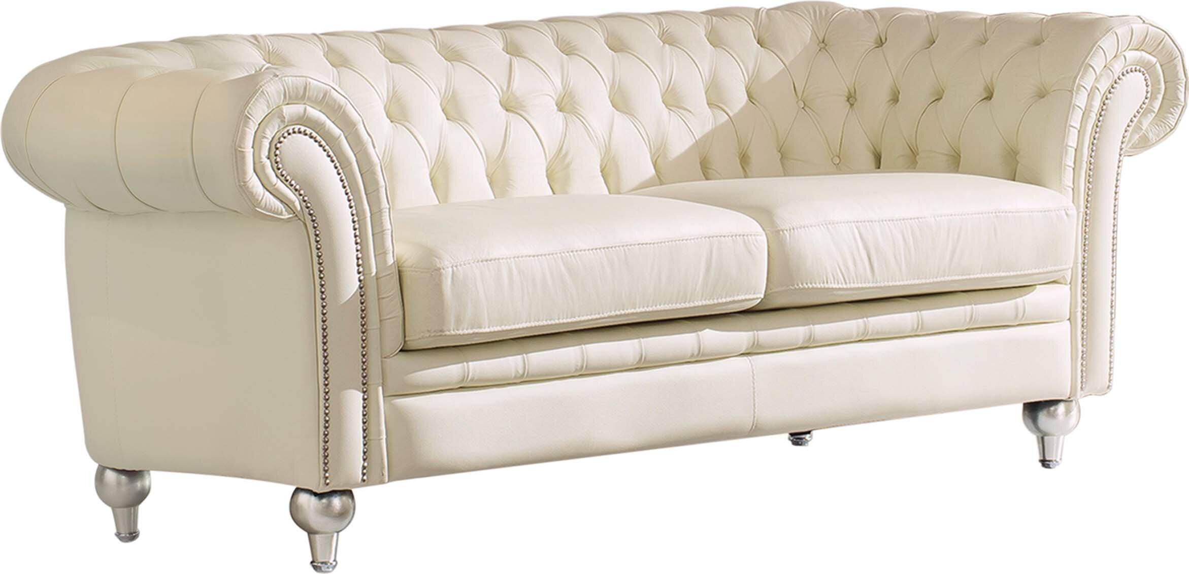 Adelina Leather Tufted Sofa