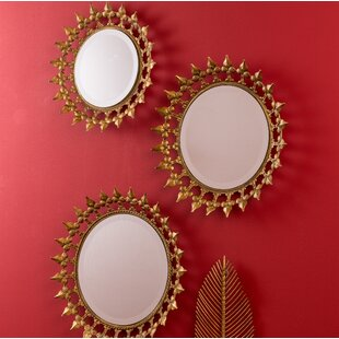3 Piece Round Wall Mirror Set