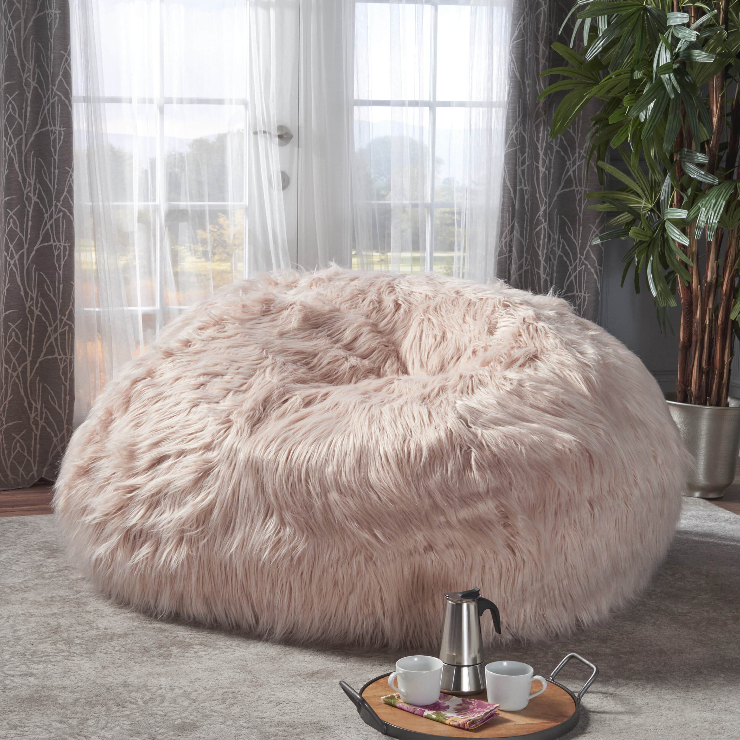 c49df2db6445 Greyleigh Furry Bean Bag Chair   Reviews